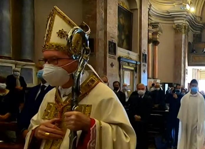 Festa a Goito per l'arrivo del cardinale Parolin per il 75° della basilica